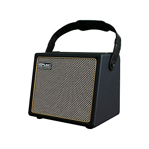 Acoustic Guitar Amplifier, 30 Watt Bluetooth Speaker Rechargeable Portable Amp with Microphone Input Supports Volume Bass Treble Control Reverb Chorus Effect