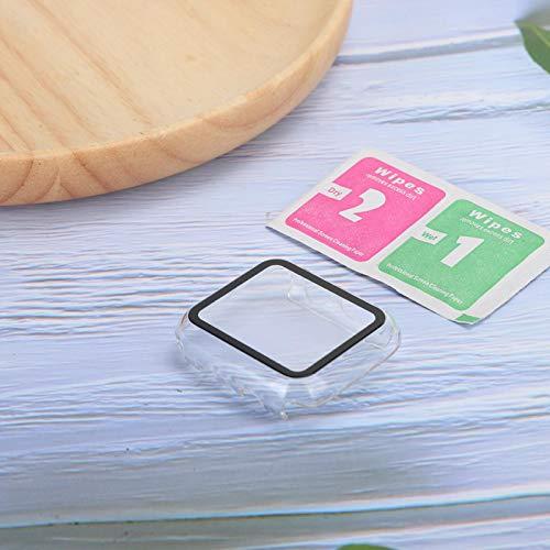 Protector de pantalla a juego con precisión Estuche protector de pantalla para APPLE IWATCH Espalda hueca Toques transparentes sin obstáculos(44MM)