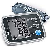 HYLOGY Misuratore Pressione da Braccio Digitale, Sfigmomanometro da Braccio Pressione Arteriosa, Grande Schermo LCD, 2 * 90 Posizioni di Memoria (grigio)
