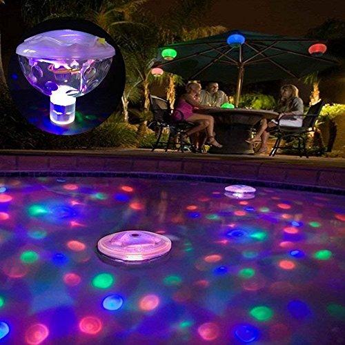 5 Lichtmuster Wasserdicht Unterwasser-Schwimm Lampe LED-Disco Aqua Glow Multi Colour Flashing Badezimmer Teich Pool Spa Whirlpool-Party-Nachtlicht