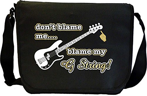 Bass Guitar Blame My G String - Sheet Music Document Bag Musik Notentasche MusicaliTee