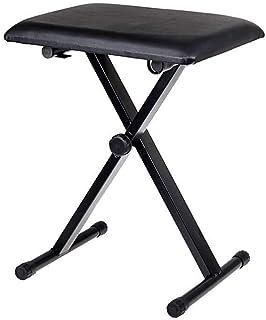 Drum Soft Padded Seat Stool Chair - Black