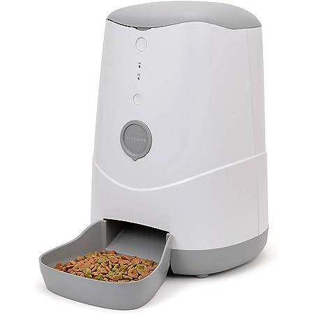 ジーフォース Petoneer Nutri Smart Pet Feeder(ペットニア ニュートリ スマートペットフィーダー) スマホ対応 猫・小型犬用自動給餌器 Amazon Alexa対応 3.7L PSE、技適認証 日本正規品 FDW010 2W ホワイト