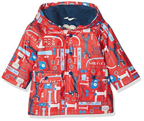 Hatley Mini Printed Raincoat Imperméable, Rouge (Mr. Fix It), 18 Mois Bébé garçon