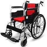 D-Q Autopropulsada plegable silla de ruedas con el frente y trasero Freno de mano for mayores, discapacitados, minusválidos, personas obesas con silla de ruedas silla de ruedas Ampliar Espesar