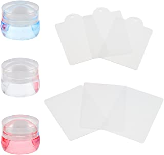 FRCOLOR 3 Sets Silicone Nail Stamper Nail Art Template Clear Nail Stamp Plates Manicure Image Plate for Salon Beauty Home ...