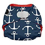 Imagine Baby Products Newborn Stay Dry All-in-One Hook and Loop Diaper, Overboard