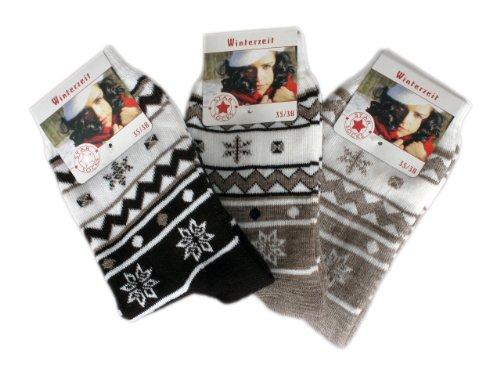 6 Paar Damen Thermo Socken - Winterzeit (5506) 35/38,Mehrfarbig