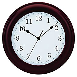 Tempus, Mahogany Traditional Wood Wall Clock, 12