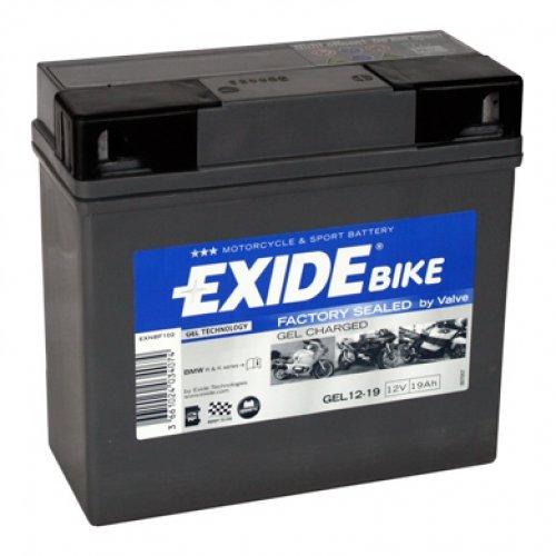 EXIDE Batterie - 707.26.55 - GEL 519901 - Erstmalig! Gel-Technologie für´s Motorrad - nur von EXIDE Montagekit mit Schrauben und Mutter + gesetzlichem Batteriepfand (EUR7,50)!