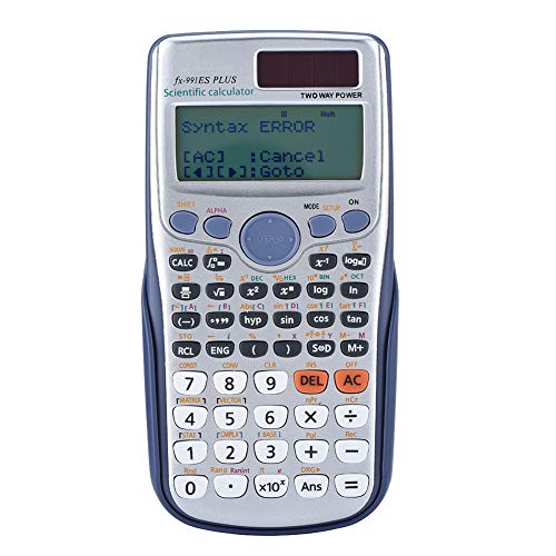 Pokerty Calculadora, Handheld Función Completa Función científica Calculadora Libro de Texto Pantalla sincrónica para Estudiantes y empleados de Oficina