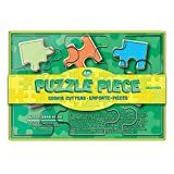 Fox Run Puzzle Pieces Cookie Cutter Set, 6, Stainless Steel