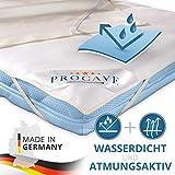 PROCAVE wasserdichter Matratzenschoner 180 x 200 cm - atmungsaktive Matratzenauflage, Made in...