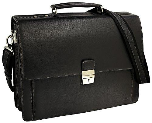 Fa.Volmer® Herren Echt-Leder Business-Tasche für Notebook #Bag16208