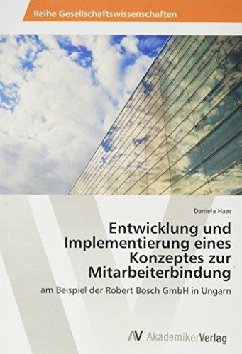 Haas, D: Entwicklung und Implementierung eines Konzeptes zur