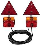 AdLuminis - Set di luci posteriori per rimorchio, 2 luci a camera, luci posteriori, luci a barra, luci per traverse, luci stradali, omologate, per autoveicoli e camion
