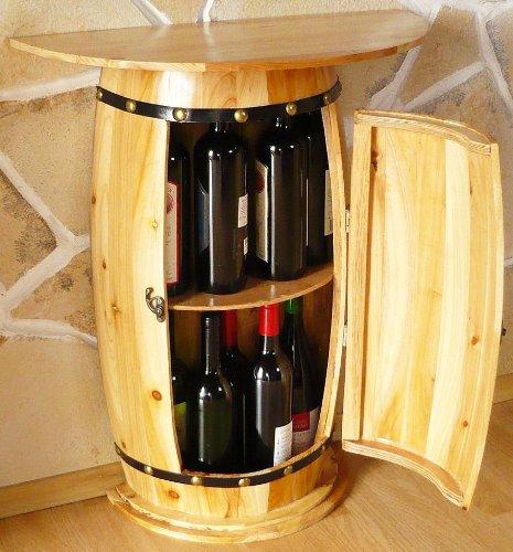 DanDiBo Wandtisch Tisch Weinfass 0373 Schrank Weinregal Fass aus Holz - 3