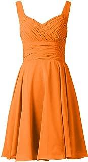 TalinaDress Womens Short V Neck Chiffon Bridesmaid Dress Prom Gown E283LF