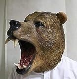 The Rubber Plantation TM 619219293822 - Máscara de oso salvaje de látex, diseño de animales, disfraz de Halloween, talla única