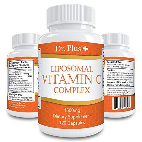 高濃度ビタミンC 1500mg 高吸収リポソーム120 カプセル [2ヶ月分] /Liposomal Vitamin C 1500mg 120 Caps 2month supply Made in USA 海外直送品 (1)