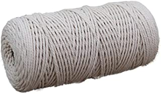 Fan-Ling 3mm x 200m Cotton Thread,Yarn Cotton Yarn Cotton Cord for DIY Craft Crafting Wall Hanging,Craft Projects for Crafting, Gift Wrapping, Knitting