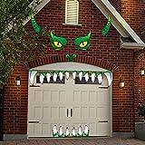 Halloween Monster Face Decorations - Outdoor Garage Archway Door Window Car Halloween Party Decoration