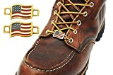 BrooklynMaker USA Flags Shoes Boot Lace Keeper US American Union Workers