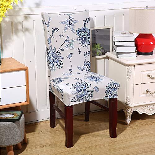 Eetkamerstoel beschermhoes, verwijderbare elastische stoel Slipcover voor restaurant bruiloft banket stoel decoratie OneSize E