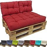 PROHEIM Set Tino Lounge Coussins pour Palette Europe de pour extérieur et intérieur - 1 Coussin d'assise 120 x 80 x 18 cm + 2X Coussins Petits de Dossier 60 x 40 x 10-20 cm, Couleur:Anthracite