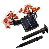 yijun Luz solar de jardín, luces decorativas para exteriores con...