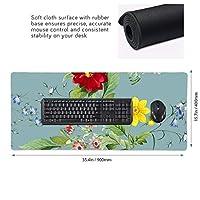 花柄 マウスパッド ゲーミングマウスパット デスクマット キーボードパッド 滑り止め 高級感 耐久性が良い デスクマットメ キーボード パッド おしゃれ ゲーム用(90cm*40cm)