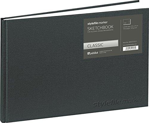 Stylefile BB10T0031 Marker Classic Skizzenbuch DIN, Silver, A4 querformat