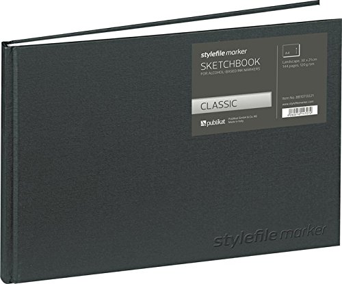 Stylefile BB10T0031 Marker Classic Skizzenbuch DIN, Silver, A4 querformat