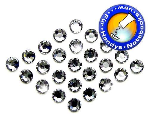 Swarovski 720 Stück Elements 2058 XILION - KEIN Hotfix, Farbe Crystal Silver Night, SS5 (Ø ca. 1,8 mm), Strass-Steine zum Aufkleben