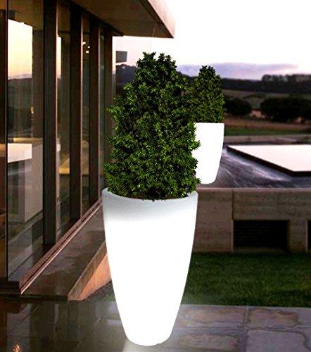 point-garden Blumenkübel Pflanzkübel Pflanzgefäß weiß beleuchtet Designerleuchte