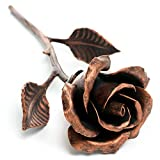 Handcrafted Metal Rose (Copper Stained) - Romantic Anniversary Flower
