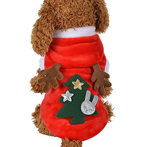 Fossrn Ropa Perro Pequeño Navidad Disfraz Reno Sudaderas con Capucha para Chihuahua Yorkshire Mascota Cachorros