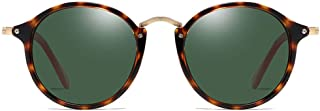 Fashion Tortoiseshell Frame Green/Brown Lens Men and Women with The Same Driving Driving Sunglasses New Fashion Polarized PC Material Sunglasses Retro (Color : Green)