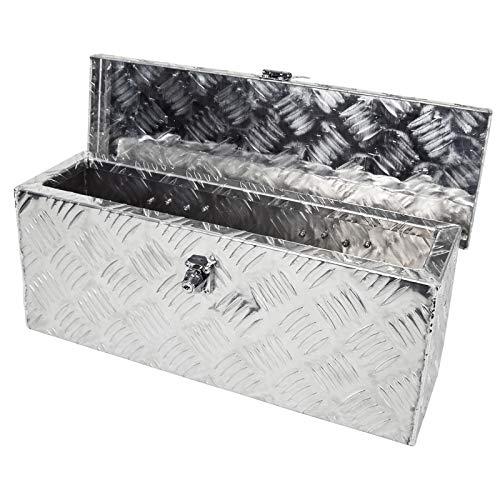 Grafner Aluminium Box 14 Liter aus massivem Riffel-Blech, mit Schloss und 2 Schlüssel, 485 x 140 x 200 mm, Transportbox Transportkiste Munitionskiste Werkzeug Alu Kiste
