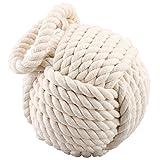 Qualität HEAVY Nautical Rope Knot Türstopper - Cream