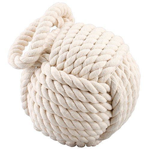 Qualität HEAVY Nautical Rope Knot Türstopper - Cream