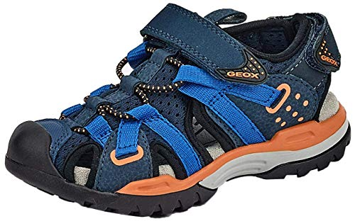 Geox Jungen J BOREALIS BOY B, Blau (Navy/Orange C0659), 39 EU