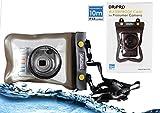 Navitech Schwarzes Wasserfestes Case/Cover/Hülle/Unterwasserkamerahülle für Canon PowerShot SX610 HS