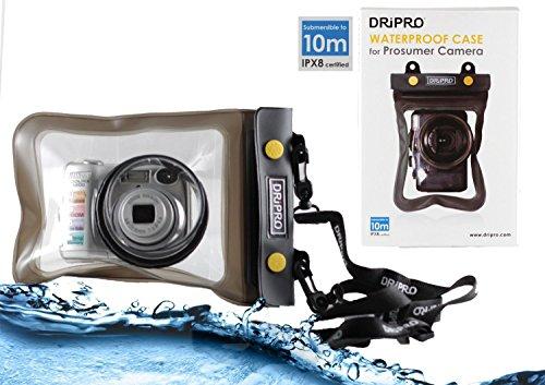 Navitech Schwarze wasserdichte Unterwassergehäuse Kasten/Beutel-trockener Beutel für dasSony Cyber Shot HX400 / HX400V / Sony Cyber Shot DSC H400