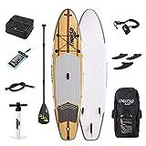 Kayaks hinchables Tabla de Paddle Surf Hinchable Kit, Bomba de Aire Sup con manómetro, Paleta Ajustable/Mochila Duradera Grande, 6 Pulgadas de Grosor, Modelo Sprint, Kit de Modelo Race