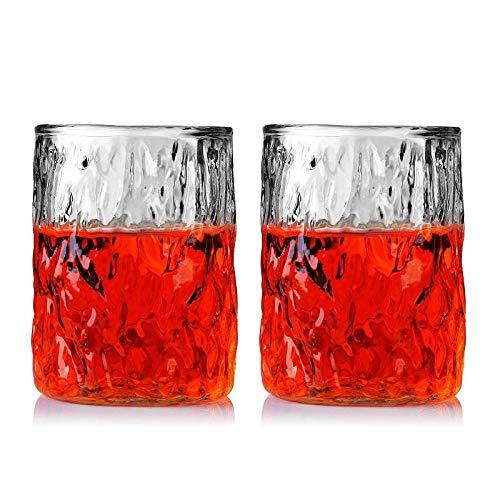 Loodvrij glas, Hamer Patroon Verdikking, Wijn en Geesten, Whiskey, Bierglas, Water Glas, 2 Packs 300ml