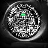 SHANGRI-LA 2点セット 汎用 ラインストーン エンジン スタート ボタン カバー リング 2点セット 両面テープ付き シルバー 社外品 【 マツダ トヨタ ダイハツ レクサス スバル 対応 】 装飾 アクセサリー MAZDA TOYOTA DAIHATSU LEXUS SUBARU CX-4 CX-5 アクセラ アテンザ プリウス アルファード LS RC インプレッサ レガシー タント ムーブ リング セット