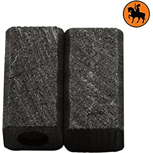 Escobillas de Carbón para BLACK & DECKER KR510XC — 6x7x13mm — 2.4×2.8×5.1»