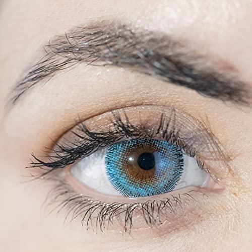 ADORE Lenti a contatto colorate GIORNALIERE azzurre - 2 lenti - effetto luminoso e naturale - super comfort