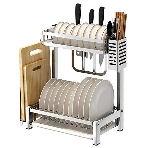 Estante para platos de cocina Estante para desagüe de cocina de acero inoxidable Estante para platos Estantes de secado Estante de almacenamiento de escritorio Estante para cubiertos Bandeja para